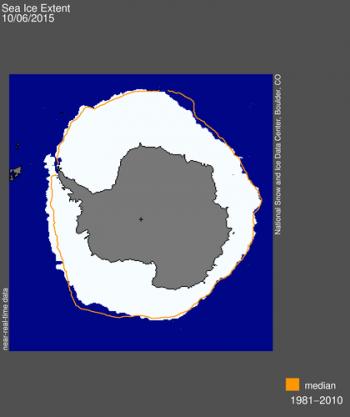 Sea ice extent, 06-10-2015